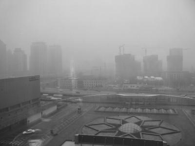 北京霾害影响百姓。图片Kevin Dooley摄,CC授权使用。